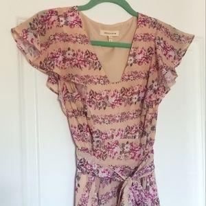🌼 Rebecca Taylor blush floral midi dress
